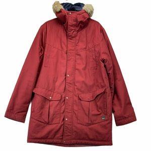 Men's Bench Brick Long Winter Jacket Fur Hood